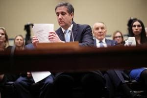 Michael Cohen, the former attorney, for President Donald Trump testifies before the House Oversight Committee on Capitol Hill February 27 2019, in Washington, DC.