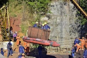 Rescue workers from NDRF and Indian Navy retrieved a second body on Wednesday from the main shaft of the flooded coal mine at Khloo Ryngksan in Meghalaya's East Jaintia Hills district, officials said.