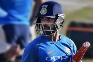 File image of India cricketer Ajinkya Rahane in action during a training session.