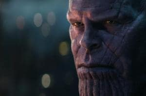 Thanos, as played by Josh Broin in a still from Avengers: Infinity War.