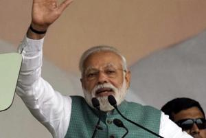 Prime Minister Narendra Modi during a rally at Gandhi Maidan in Patna on March 3.