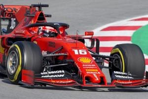 FCharles Leclerc of Monaco takes a curve during a Formula One pre-season testing session.