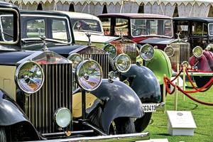 The vintage and classic cars showcased have been lovingly restored to look showroom 'new' by their owners