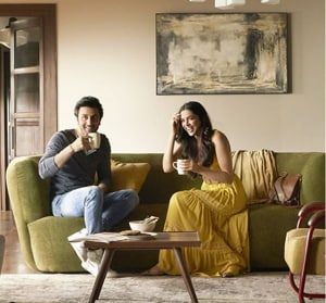 Deepika and Ranbir in a still from the new Asian Paints ad.