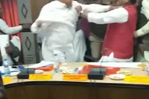 Watch: BJP MLA, MP thrash each other with shoes, slaps during a meeting...