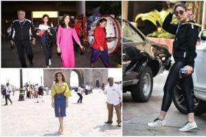 The Kapoor family, Sanya Malhotra and Kareena Kapoor were spotted in Mumbai.