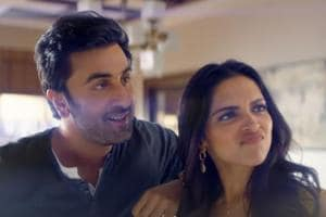 Deepika Padukone and Ranbir Kapoor in a still from the ad.