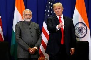 U.S. President Donald Trump with Indian Prime Minister Narendra Modi in Manila, Philippines.