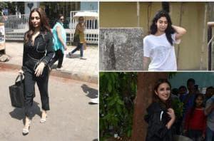 Malaika Arora, Parineeti Chopra and Khushi Kapoor were spotted in Mumbai.