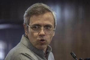 Former Chief Minister of Jammu and Kashmir Omar Abdullah delivers speech during function in Srinagar on Thursday.
