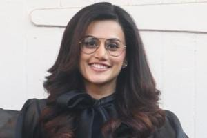 Taapsee Pannu during the promotions of her upcoming film Badla.