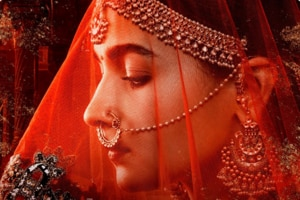 Kalank first look poster of Alia Bhatt as Roop was shared by Madhuri Dixit and Sonakshi Sinha.