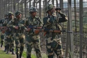 """BSFsoldiers patrol the fenced border with Pakistan near Jammu. US secretary of state Mike Pompeo and UK's National Security Advisor Mark Sedwill on Friday discussed the need to reduce tensions between India and Pakistan, following the Pulwama terrorist attack in which 40 CRPF personnel were killed last month, as one of """"key global priorities""""."""