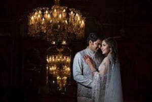 Sayyeshaa and Arya shared romantic pictures from a photo shoot before their wedding on March 10.