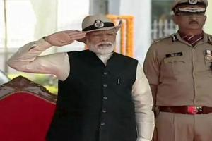 Prime Minister Narendra Modi on Sunday attended the 50th Raising Day celebrations of the Central Industrial Security Force (CISF) at Ghaziabad.