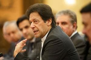 Pakistani Prime Minister Imran Khan at the Great Hall of the People, Beijing, November 2, 2018