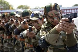 The newly-inducted women sub-inspectors were the centre of attraction at 50th Raising Day celebrations of Central Industrial Security Force (CISF), held at fifth reserve battalion in Ghaziabad on Sunday.