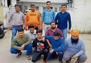 Yashwant Singh (extreme left in green T-shirt) won the Mr Haryana title in 2018.