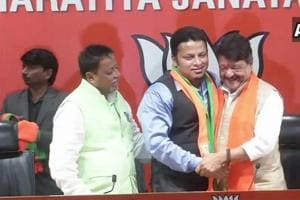 LIVE  TMC MP Anupam Hazra joins BJP