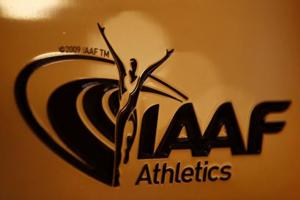 FILE PHOTO: A view shows the logo at the The International Association of Athletics Federations (IAAF) headquarters in Monaco, January 14, 2016