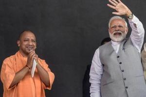 Prime Minister Narendra Modi with YogiAdityanath