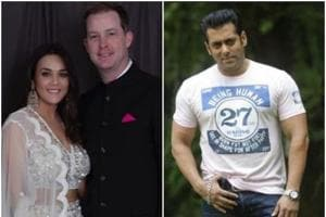 Salman Khan threw a surprise party for Preity Zinta and her husband Gene Goodenough.