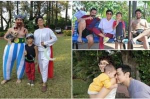 Aamir Khan with his family—wife Kiran Rao and song Azad and Junaid.