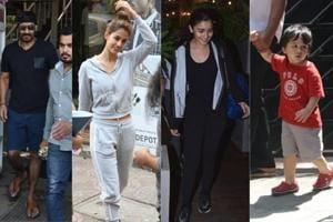 Ajay Devgn, Disha Patani, Alia Bhatt and Taimur spotted in Mumbai on Wednesday.