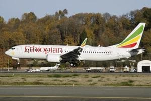 In this photo dated November 12, 2018, the actual Ethiopian Airlines Boeing 737 - Max 8 plane, that crashed Sunday.