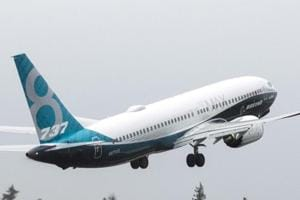 A Boeing 737 MAX takes off during a flight test in Renton, Washington January 29, 2016.