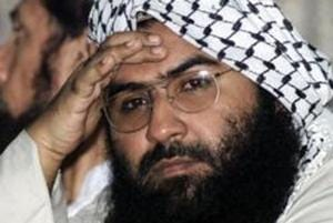 """India expressed gratitude towards UNSC members who moved the proposal for Masood Azhar's (pictured) listing and the """"unprecedented number of all other Security Council members as well as non-members who joined as co-sponsors""""."""