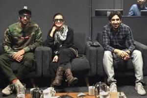 Ranbir Kapoor, Alia Bhatt and Ayan Mukherji in a candid shot from 2016 when work on Brahmastra's VFX was going on in London.