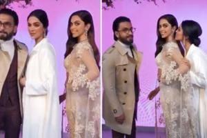 Ranveer can't stop kissing Deepika Padukone's statue at Madame Tussauds