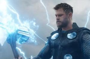 Avengers Endgame trailer: Thor wields Stormbreaker in a still from the new trailer