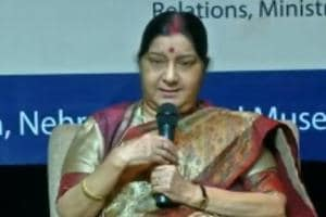 If Imran Khan is so generous, hand over Masood Azhar: Sushma Swaraj