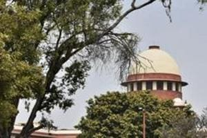 A view of the Supreme Court during the Ram Janmabhoomi-Babri Masjid land dispute case hearing, at Supreme Court in New Delhi on March 8.