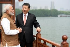 The Prime Minister, Narendra Modi and the President of the People's Republic of China, Xi Jinping inside a house boat, in Wuhan's East Lake, China on April 28, 2018. The informal summitry in Wuhan was aimed at the two leaders understanding each others' concerns