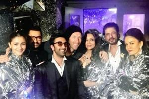 Shah Rukh Khan, Gauri, Aamir Khan, Ranbir Kapoor and Alia Bhatt met Coldplay's Chris Martin.
