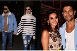 Deepika Padukone and Ranveer Singh spotted at Mumbai airport; and Farhan Akhtar shared pic with Shibani Dandekar.