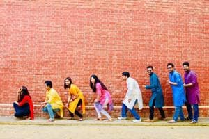 IIM-L students pose for a photo to depict how their career and personality graph went up during their stay in the premier B-school and how they became dynamic and empowered