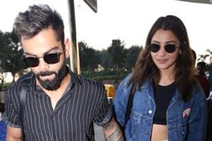 ViratKohli and Anushka Sharma were seen at the airport onFriday.