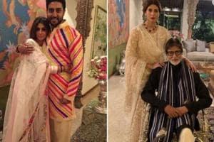 Abhishek Bachchan and Amitabh Bachchan shared special posts on Shweta Bachchan's birthday.