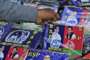 Sensing the change in political scenario, shops and vendors selling political paraphernalia have also stocked up their stalls with campaign material