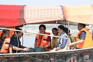 Priyanka Gandhi begins her Ganga Yatra, offers prayers in Prayagraj