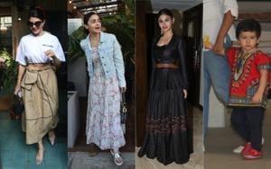 Jacqueline Fernandez, Alia Bhatt, Mouni Roy and Taimur spotted in Mumbai.