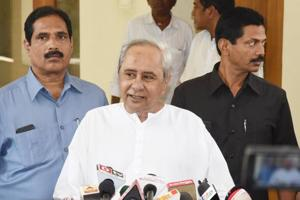 Odisha chief minister Biju Janata Dal president Naveen Patnaik announced the first list of BJD candidates for nine Lok Sabha and 54 assembly seats in the state, in Bhubaneswar on March 18.