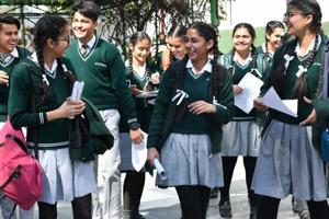 In a first, school students in the city would be deployed as volunteers at polling stations to guide voters during the Lok Sabha elections on May 12. Photo by Karun Sharma/Hindustan Time