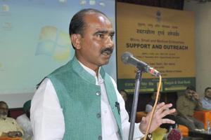 Union Minister State for Textile Ajay Tamta is the BJPmember of parliament from Almora Lok Sabha seat.