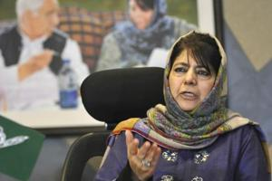 PDP president Mehbooba Mufti, a former chief minister of Jammu and Kashmir, began the campaign trai for the 2019 Lok Sabha elections on Sunday from north Kashmir's Kupwara district.