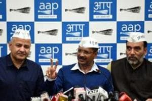 A day after the Aam Aadmi Party (AAP) announced Balbir Singh Jakhar as its west Delhi candidate, the party's city unit convener Gopal Rai declared that a mega rally would be held in the constituency on March 23. (Photo by Sonu Mehta/ Hindustan Times)